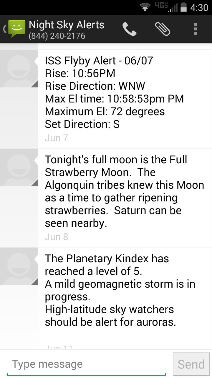 Night Sky Alerts